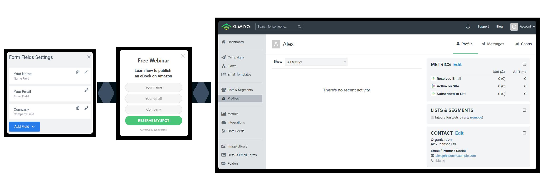 Klaviyo custom fields support
