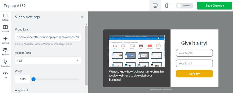 Vooplayer support screenshot