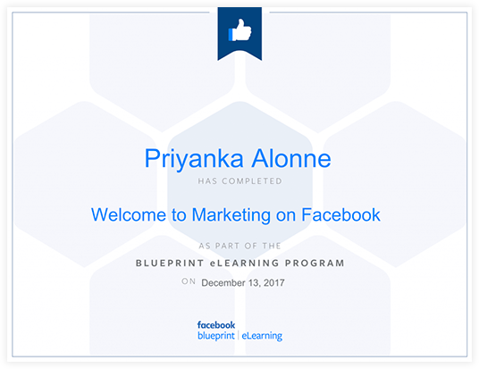 Facebook blueprint certificate