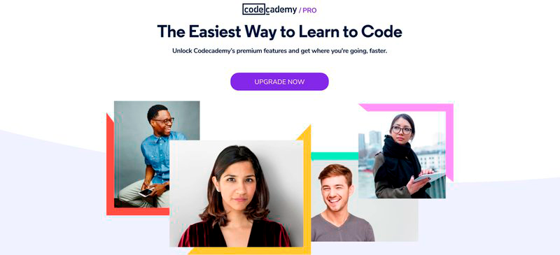 Click-through page code academy example