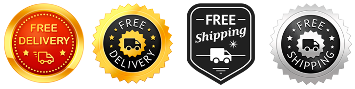 Free delivery badges