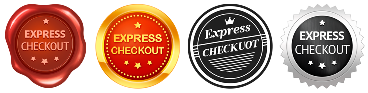 Express checkout badges