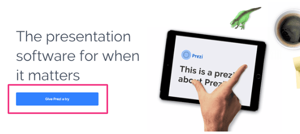 prezi call-to-action