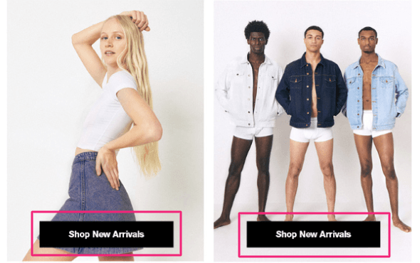 american apparel call-to-action