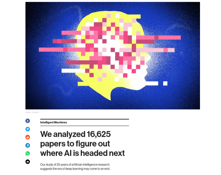 AI article headline
