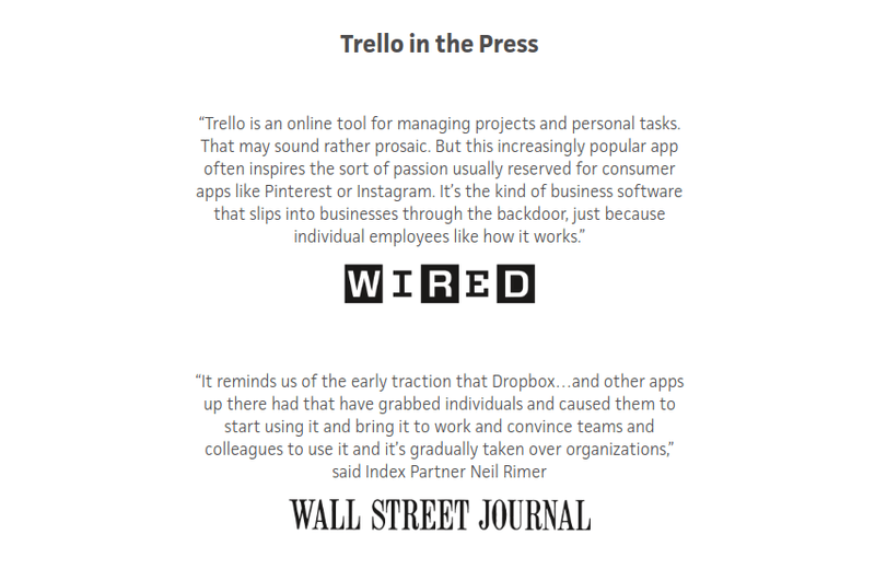Trello social proof