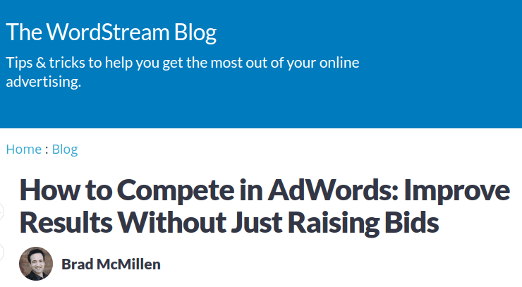 wordstream headline example