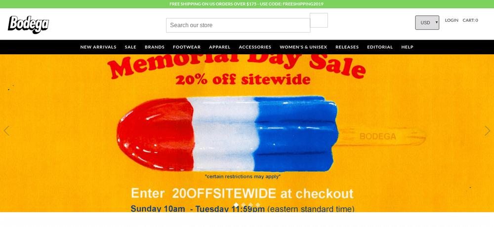 shopify store bodega