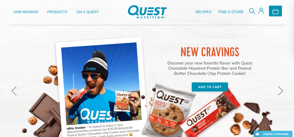 shopify store quest nutrition