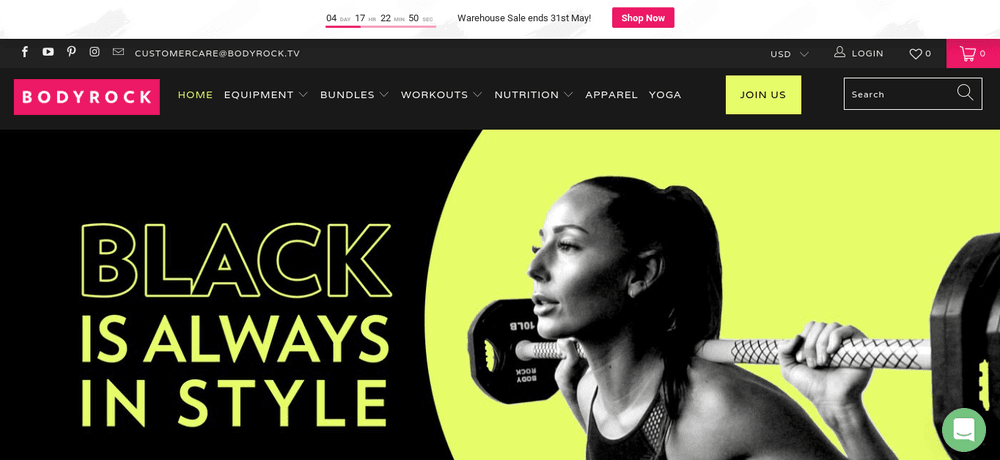 shopify store bodyrock