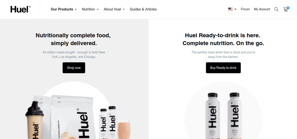 shopify store huel