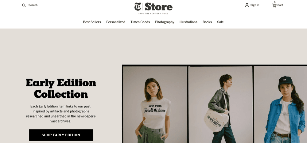 shopify store new york times
